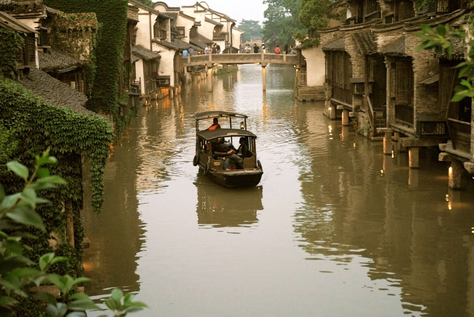 Boat on Wuzhen canal