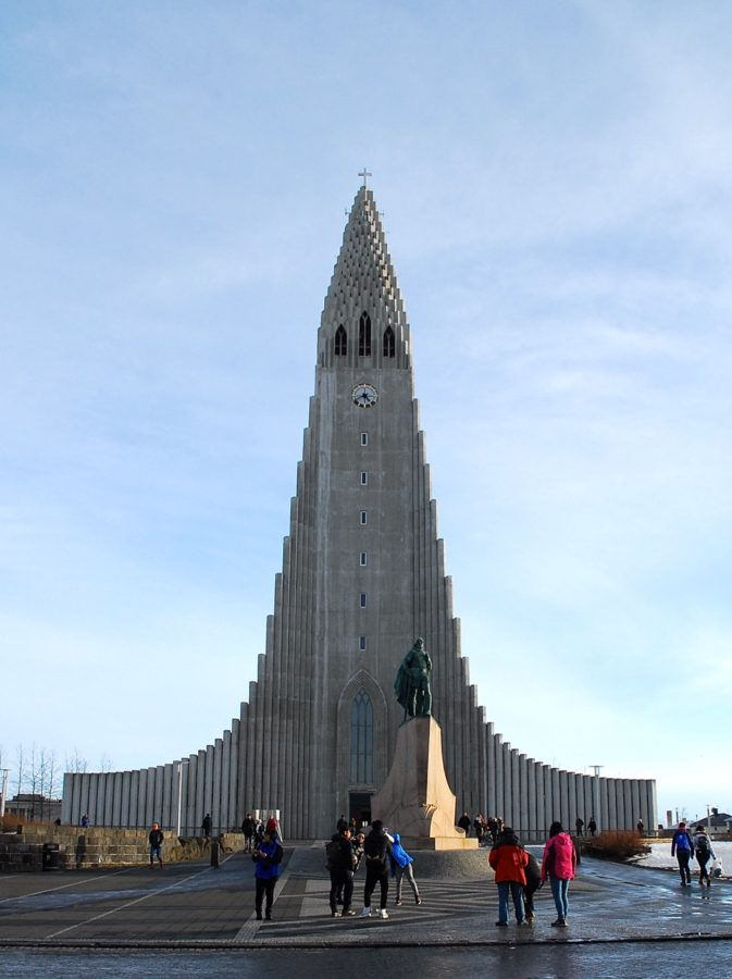 Rising to a height of 245 feet, Reykjavik's landmark church, Hallgrímskirkja, makes a handy reference when walking about the streets because it can be seen from all over the city. It provides an impressive view of the city from the top of the tower.