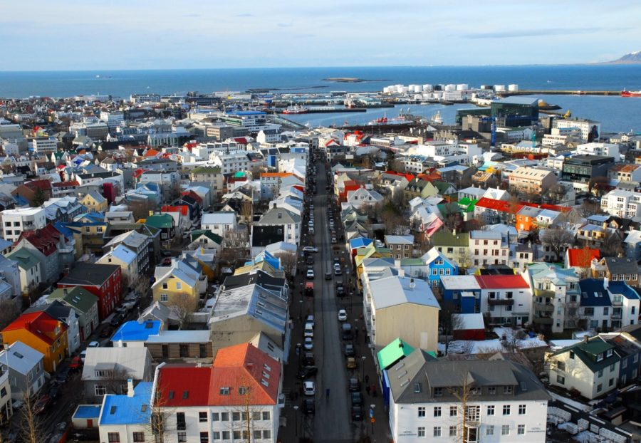 About 120,000 of Iceland's 330,000 citizens live in Reykjavik. The entire city is heated by hot water, provided compliments of a nearby volcano and modern geothermal heating technology.